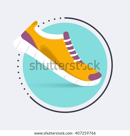 running shoes icon training