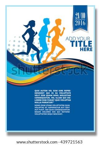 running  silhouette poster
