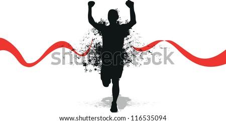 running splash man