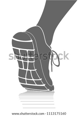 running sports shoes icon