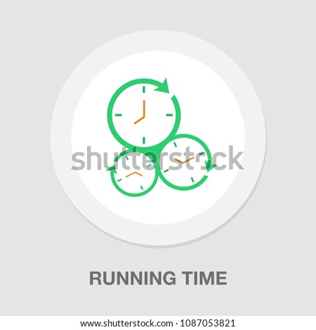 Running time illustration, speed symbol. stopwatch icon