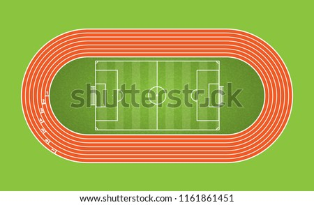 running track and football