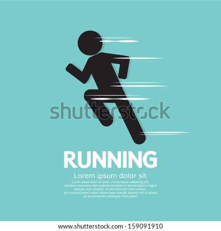 Running Vector Illustration EPS10