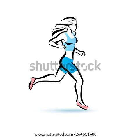 Рисунок человекам в беге
