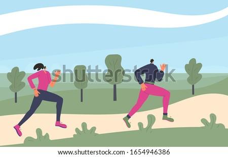 running women two girls in