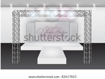 Runway fashion show stage