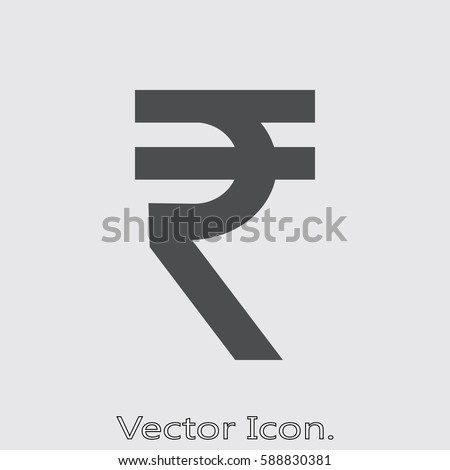 Rupee icon isolated sign symbol and flat style for app, web and digital design. Vector illustration.