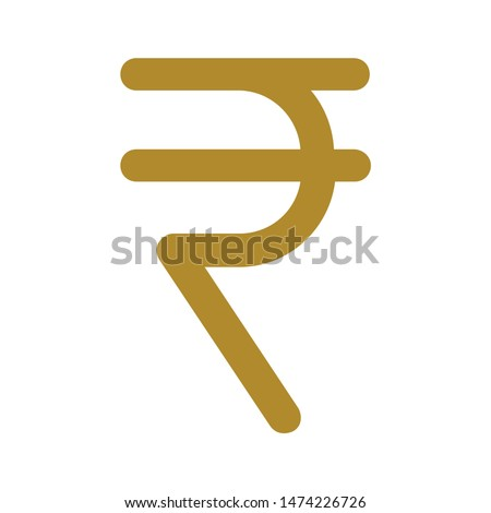 rupee symbol icon. flat illustration of rupee symbol vector icon. rupee symbol sign symbol