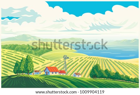 rural landscape with a
