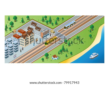 rural station with train