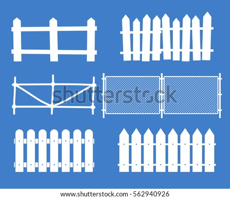 rural wooden fences  pickets