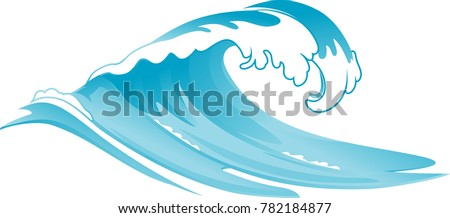 Rushing Wave Vector Illustration