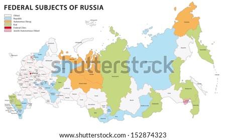 russia administrative map