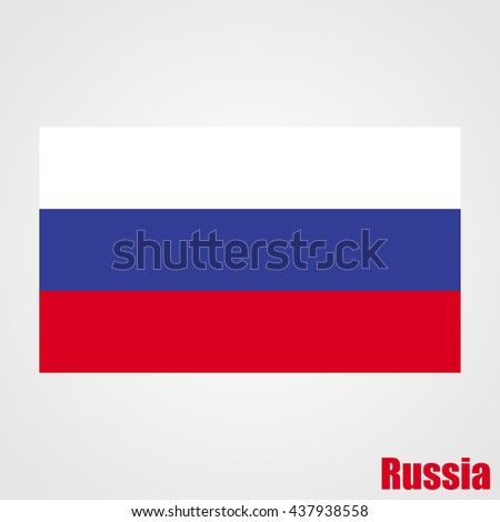 russia flag  official colors