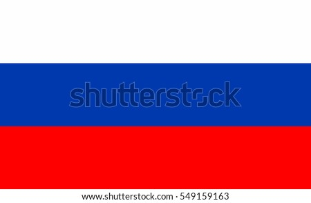 Russia flag vector icon.