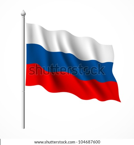 russia flag  vector illustration