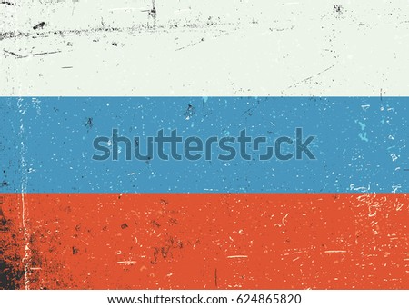 russia grunge flag abstract