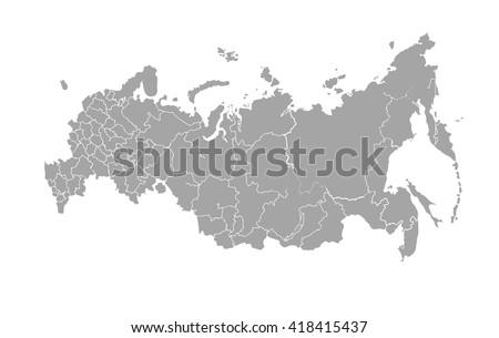 Russia map Stockfoto ©