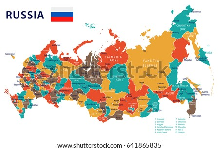 Russia Map Vector Download Free Vector Art Stock Graphics Images - Map russia