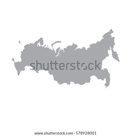 russia map icon vector