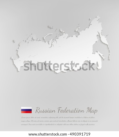 russia map russian federation