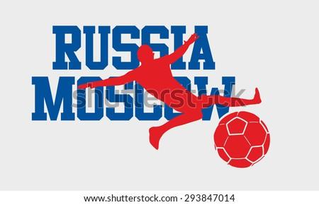 russia soccer slogan vector art