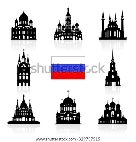 russia travel landmarks icon