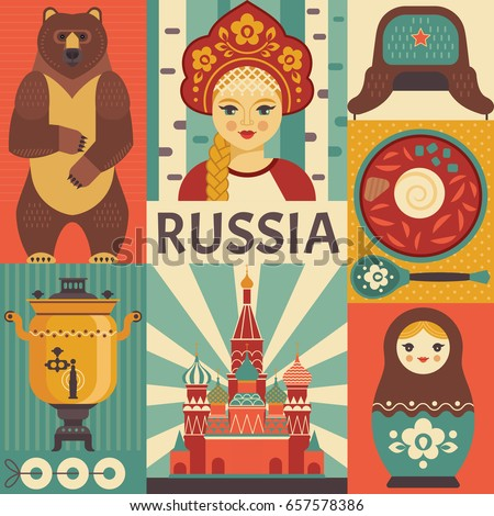 russia travel poster concept