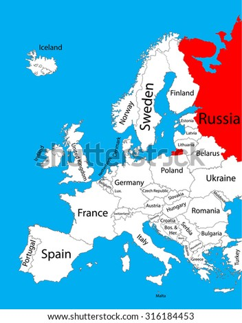 russia vector map  europe