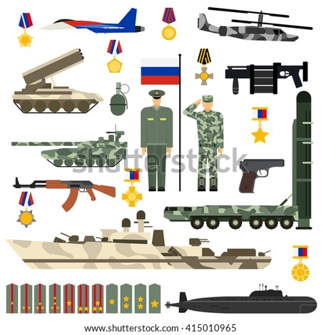 russian army military gun set