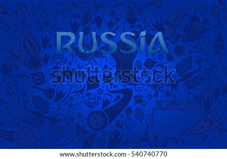 russian blue background  world