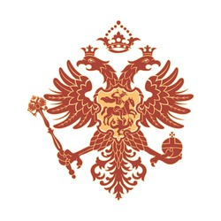 Russian coat of arms (double-headed eagle) isolated