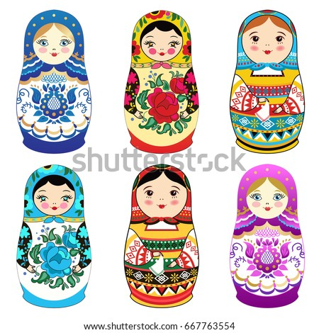 russian doll matrioshka with