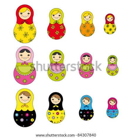 russian doll perfect for card