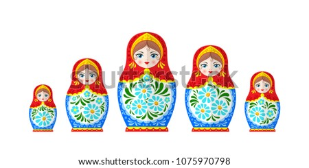 russian dolls matrioshka  five