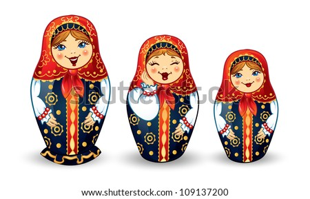 russian dolls matrioshka