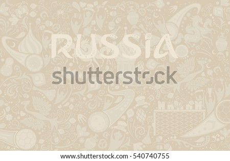 russian ecru background  world