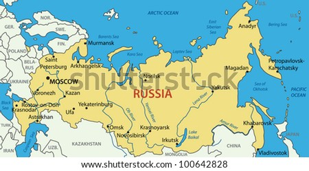 Russian Federation - vector map