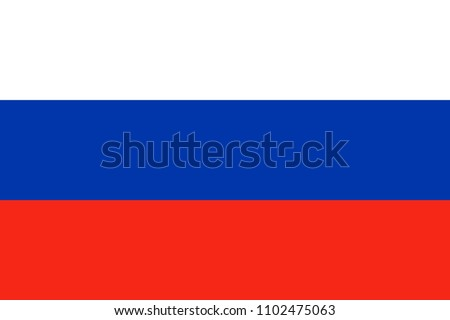 Russian flag. Flag of Russia. Vector illustration suitable for banner or background.