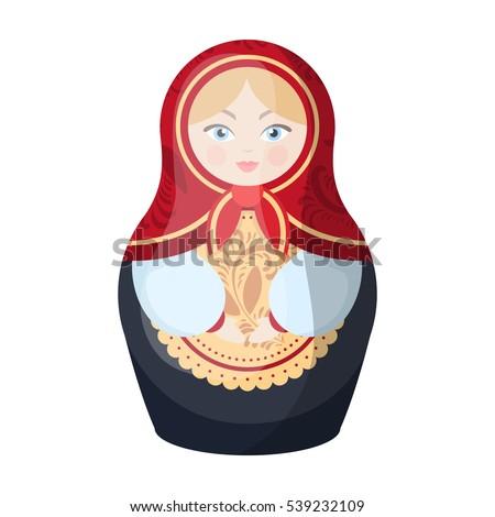 russian matrioshka icon in