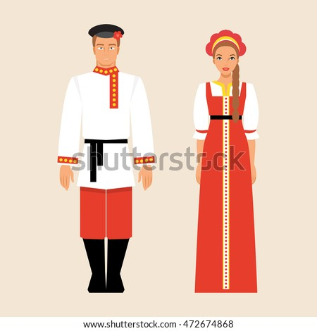 russian men and women in