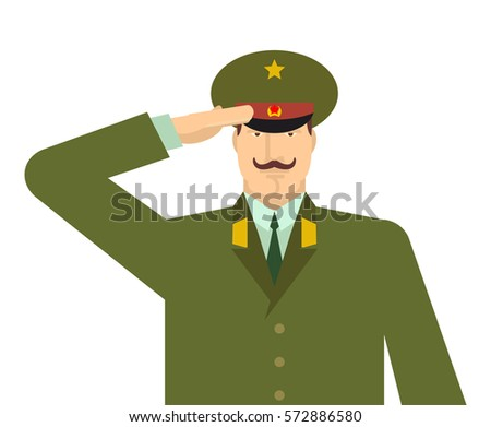 russian military officer salute