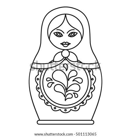 Russian nesting doll icon. Outline illustration of russian nesting doll vector icon for web Stock fotó ©