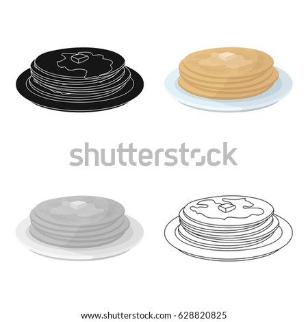 russian pancakes icon in