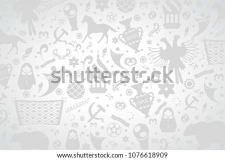 Russian pattern wallpaper isolated on gray background. Modern design for web site,poster,placard,banner template and backdrop. Creative art concept,vector illustration eps 10