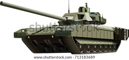 Russian real Armata T-14 new main battle tank, high quality vector