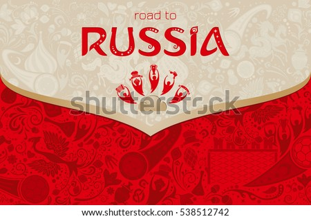 russian red background  world