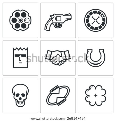 russian roulette game icons