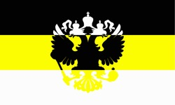 Russian symbolism - the flag of the Imperial Russian black yellow white tricolor
