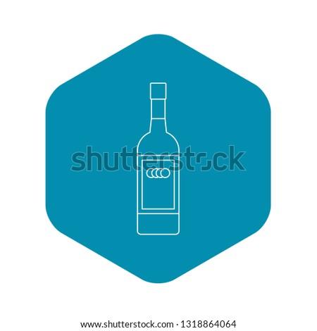 russian vodka bottle icon